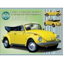 Metal Wall sign Volkswagen beetle cabrio