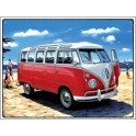 Metal Wall sign VW bus Samba beach