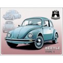 Metalen plaat VW Beetle Wolfsburg