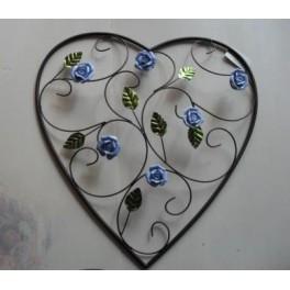 Wanddecoratie Hart met Roosjes