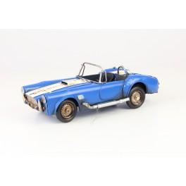 Blikken Racewagen blauw wit
